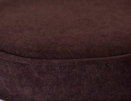 Aubergine Suede Faux Stool Top