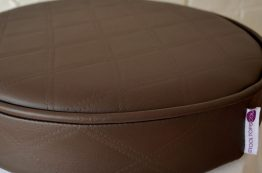 Chocolate Faux Round Stool Top