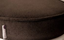 Chocolate Suede Faux Stool Top